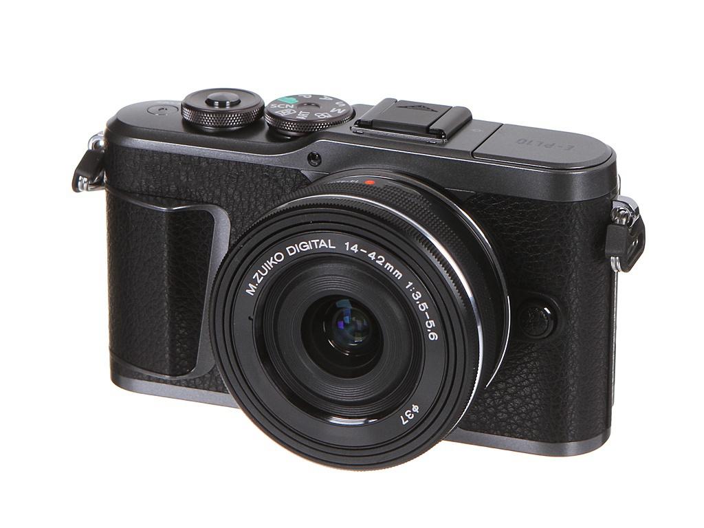 Фото - Фотоаппарат Olympus Pen E-PL10 Kit Black кожаный чехол olympus cs 45b для pen e pl7 e pl8 коричневый v601066nw000