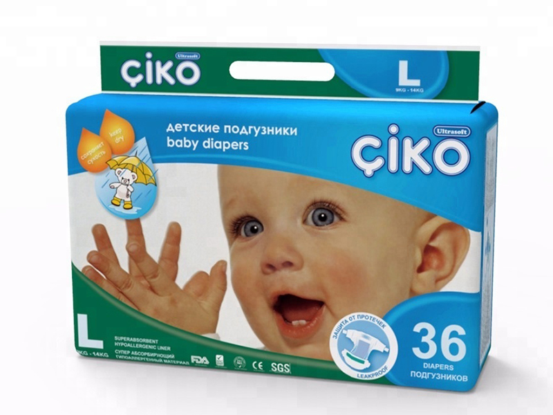 Подгузники Ciko L (9-14 кг) 36 шт
