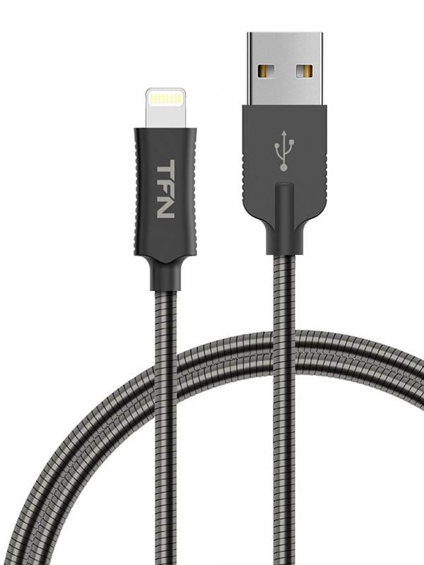 Аксессуар TFN Forza USB - Lightning 1m Steel TFN-CFZLIGUSB1MST
