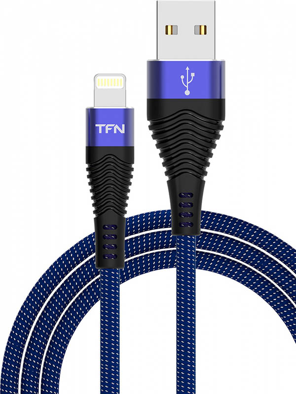 Аксессуар TFN Forza USB - Lightning 1m Blue-Black TFN-CFZLIGUSB1MBL