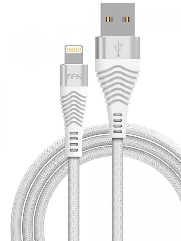 Аксессуар TFN Forza USB - Lightning 1m White TFN-CFZLIGUSB1MWH