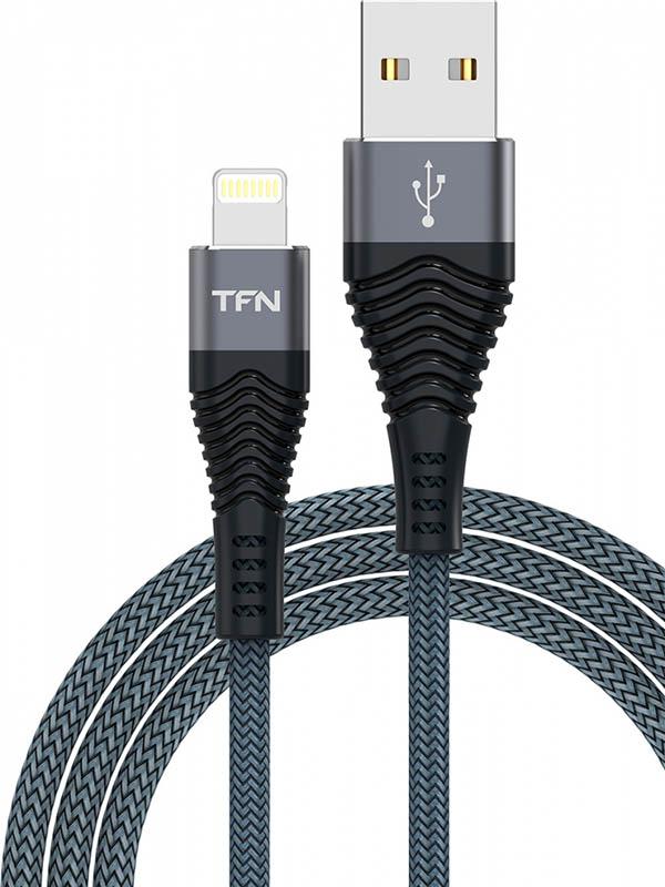 Аксессуар TFN Forza USB - Lightning 1m Graphite TFN-CFZLIGUSB1MGR