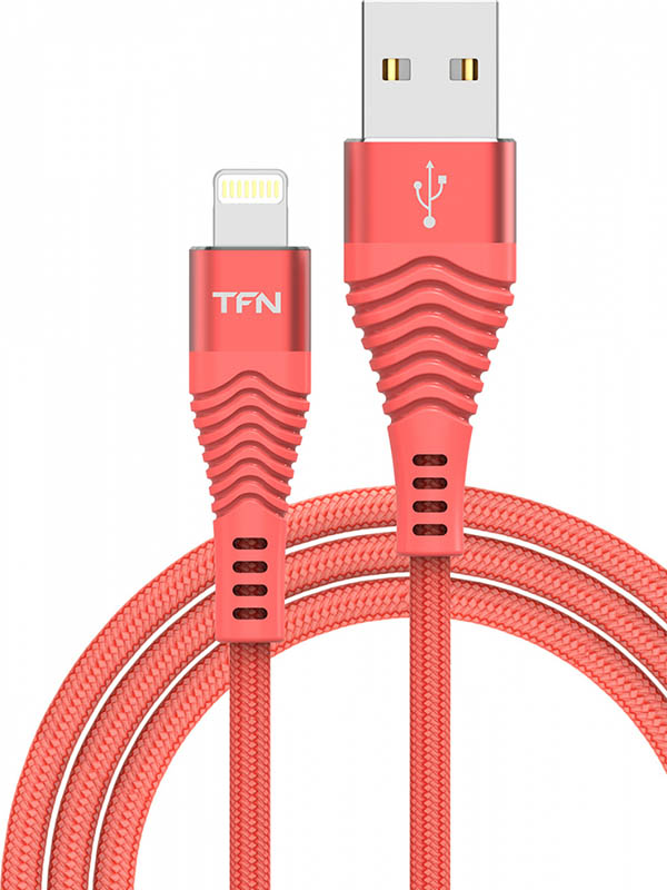 Фото - Аксессуар TFN Forza USB - Lightning 1m Coral TFN-CFZLIGUSB1MCR bobbi brown luxe lip color помада retro coral