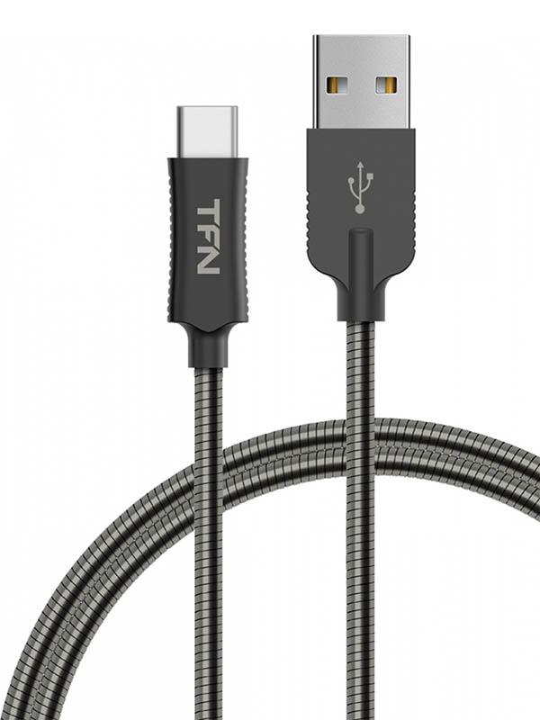 Аксессуар TFN Forza USB - Type-C 1m Steel TFN-CFZUSBCUSB1MST