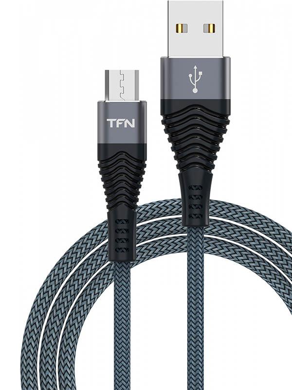 Аксессуар TFN Forza USB - microUSB 1m Graphite TFN-CFZMICUSB1MGR
