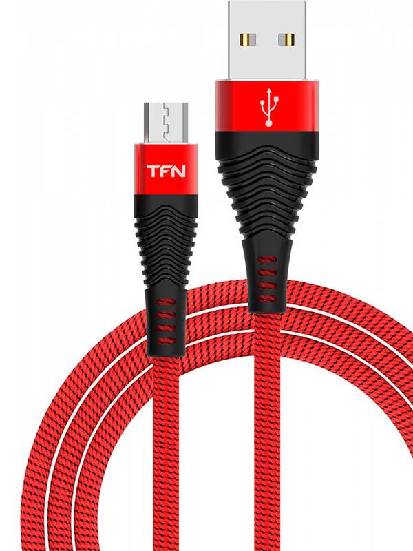 Аксессуар TFN Forza USB - microUSB 1m Red-Black TFN-CFZMICUSB1MRD Forza TFN-CFZMICUSB1MRD фото