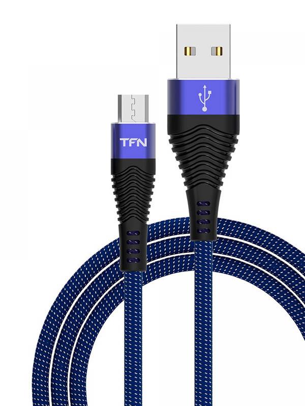 Аксессуар TFN Forza USB - microUSB 1m Blue-Black TFN-CFZMICUSB1MBL