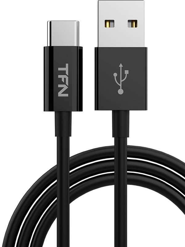 Аксессуар TFN TPE USB - Type-C 1m Black TFN-CUSBCUSB1MTPBK