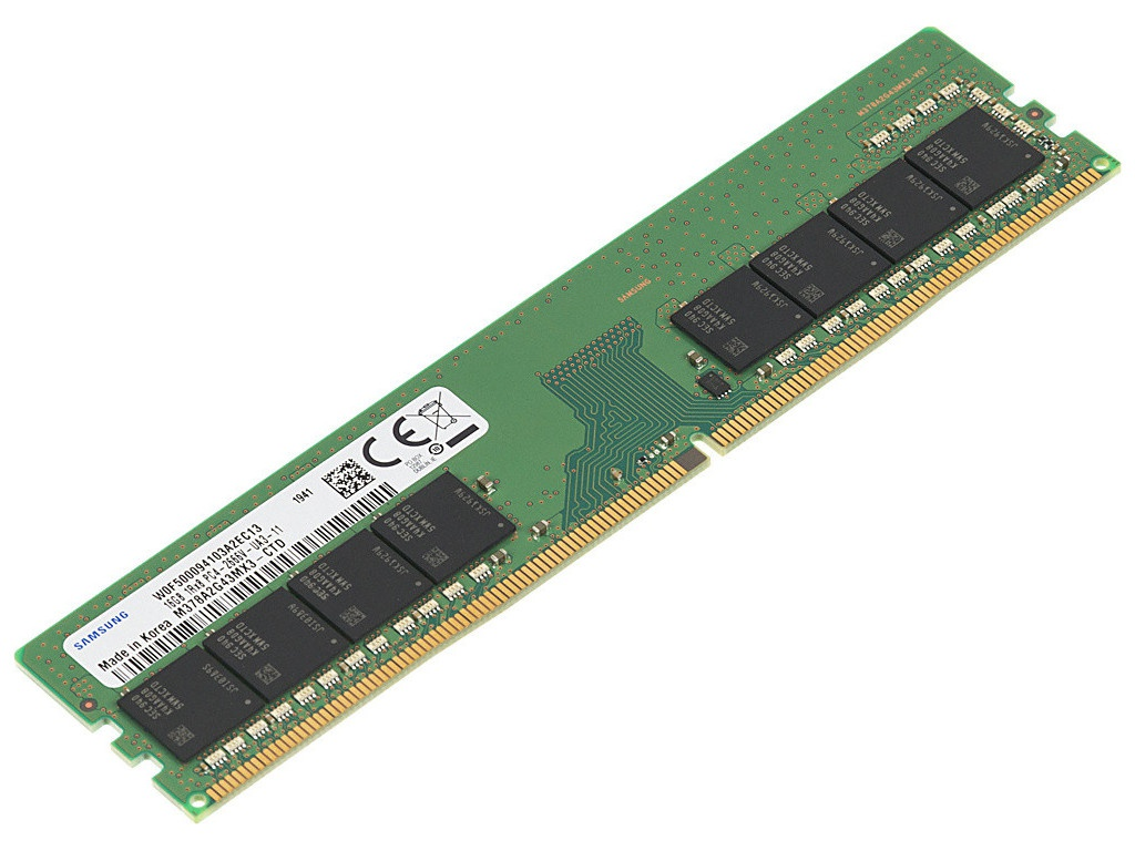 Модуль памяти Samsung DDR4 DIMM 2666MHz PC4-21300 CL19 - 16Gb M378A2G43MX3-CTD