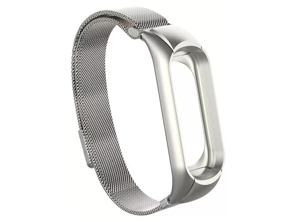 Aксессуар Ремешок Activ для Xiaomi Mi Band 3/ 4 Metal Silver 108334
