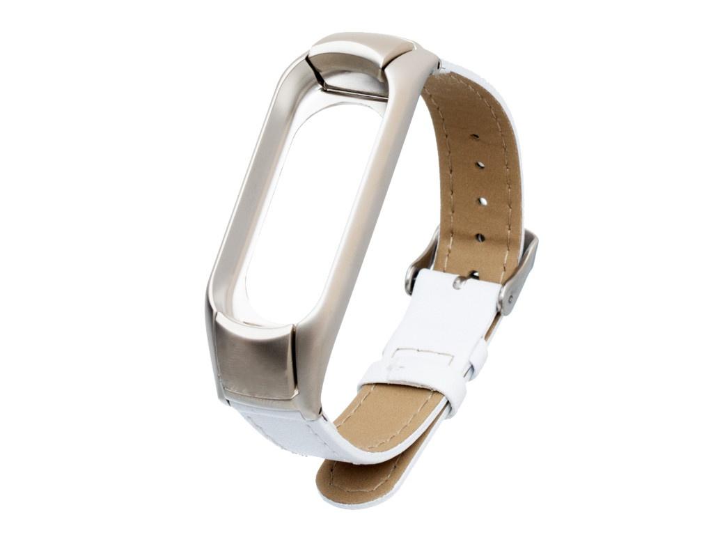 Aксессуар Ремешок Activ для Xiaomi Mi Band 3 / 4 Leather White 108331