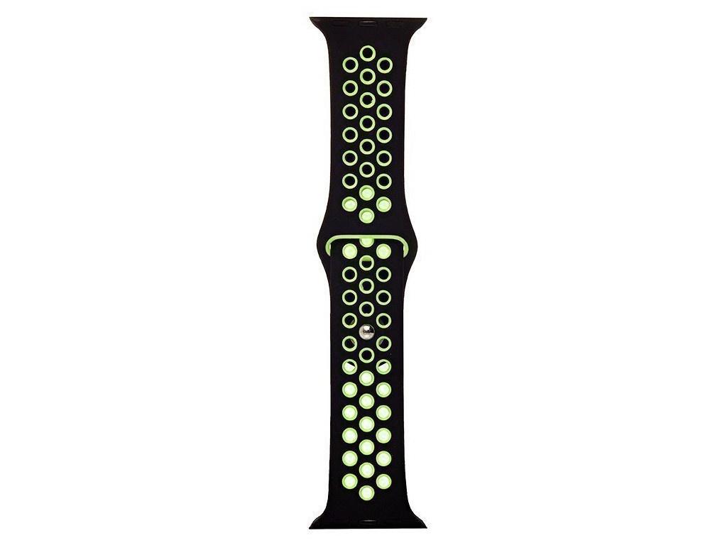 Аксессуар Ремешок Activ для APPLE Watch 42/44mm Sport N S Black-Green 107233