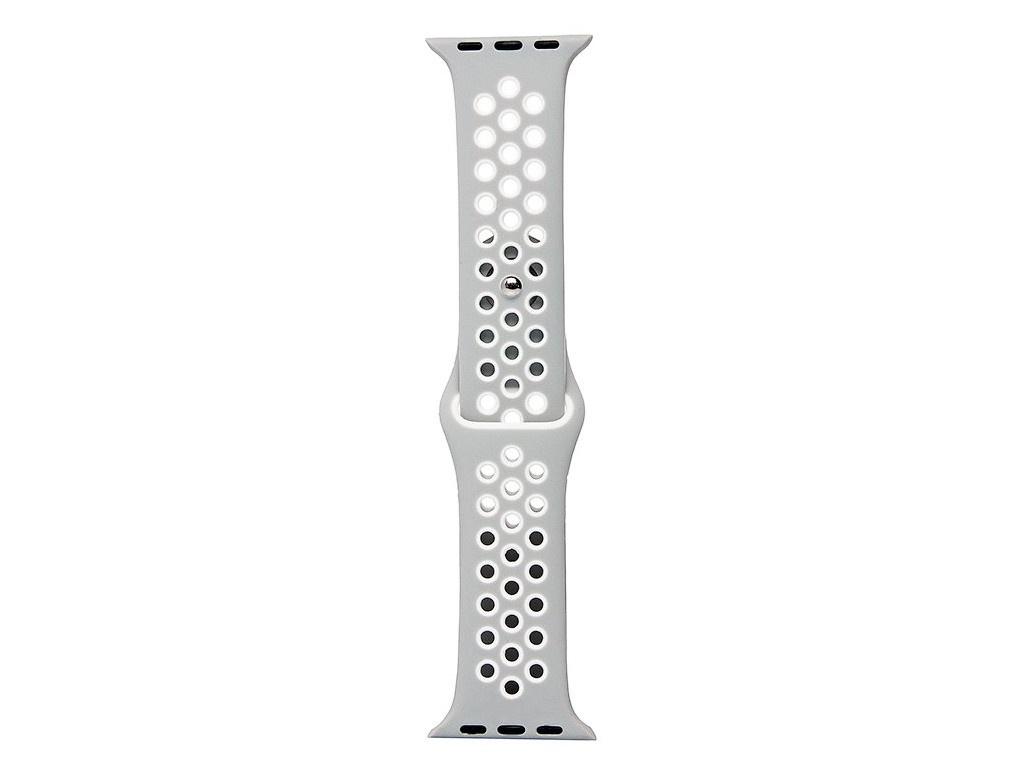 Аксессуар Ремешок Activ для APPLE Watch 38/40mm Sport N S Grey-White 107199