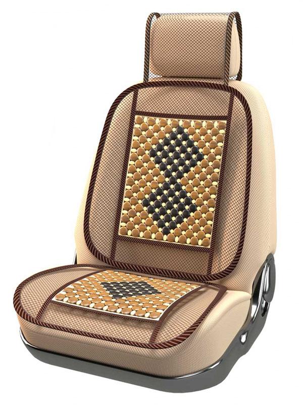 Накидка на сиденье Nova Bright Fusion 132x52cm Black-Beige 47349