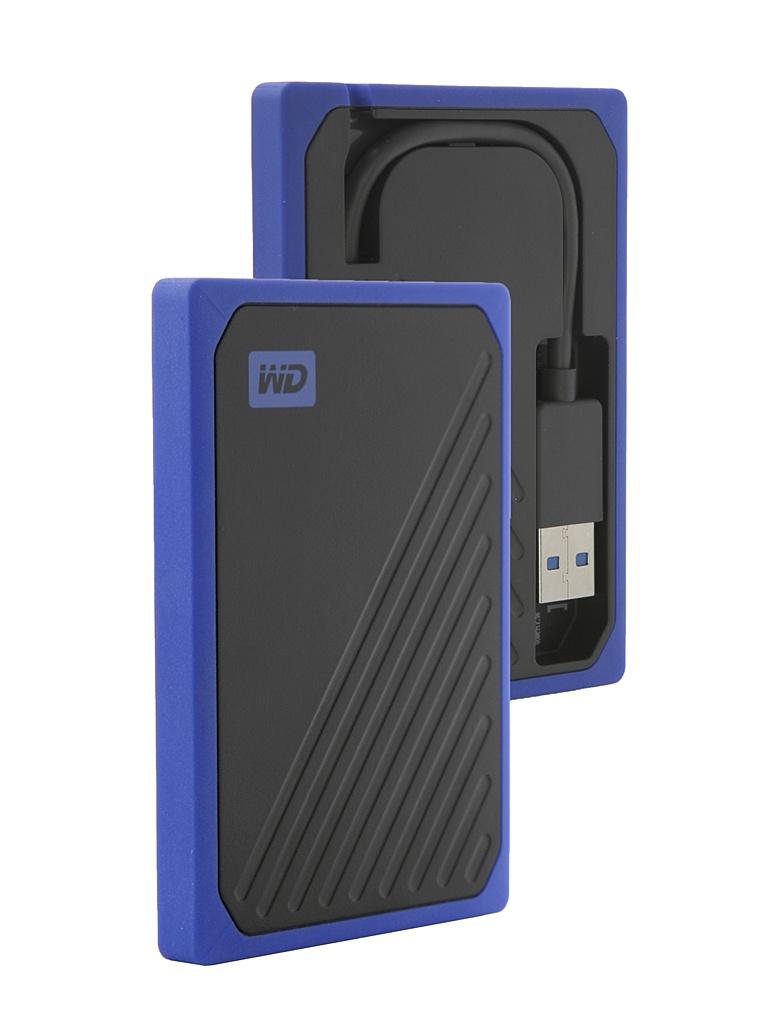 Жесткий диск Western Digital WD SSD My Passport Go 1Tb Blue WDBMCG0010BBT-WESN