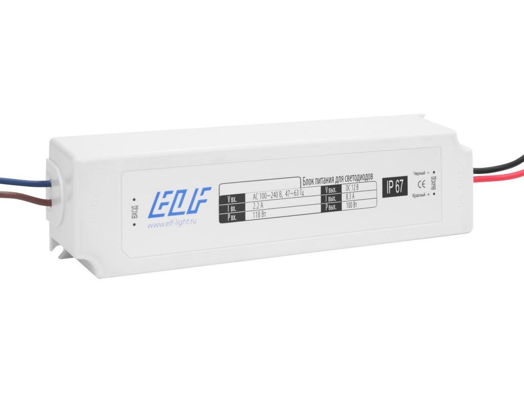 Блок питания ELF 12V 100W IP67 ELF-12E100PC-JO