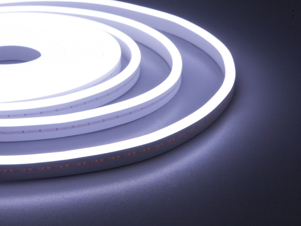 Светодиодная лента ELF NeonLine боковой изгиб 12V IP20 5mm 5m IP 53 White ELF-NL-5-side-in-W
