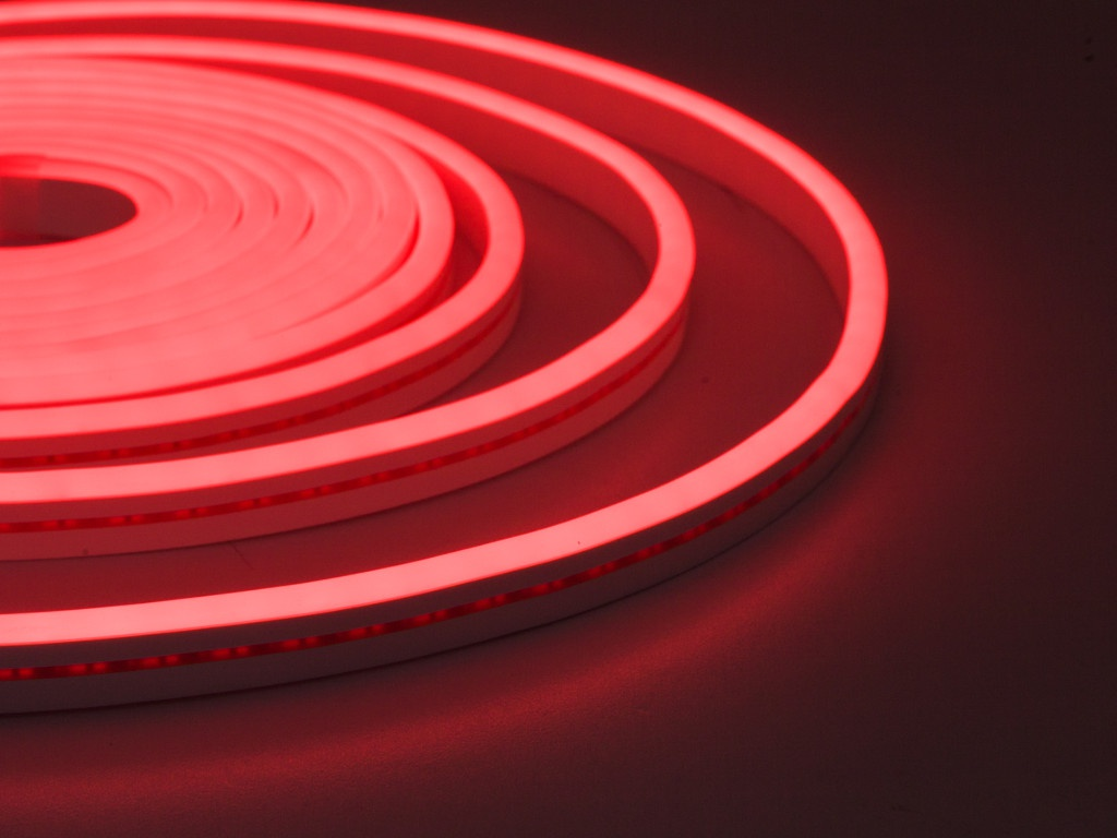 Светодиодная лента ELF NeonLine боковой изгиб 12V IP20 5mm 5m IP 53 Red ELF-NL-5-side-in-R