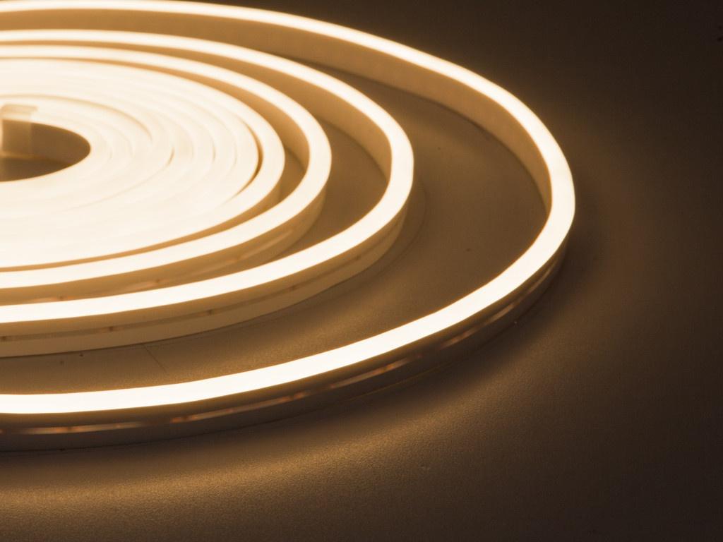 Светодиодная лента ELF NeonLine боковой изгиб 12V IP20 5mm 5m IP 53 Warm White ELF-NL-5-side-in-WW