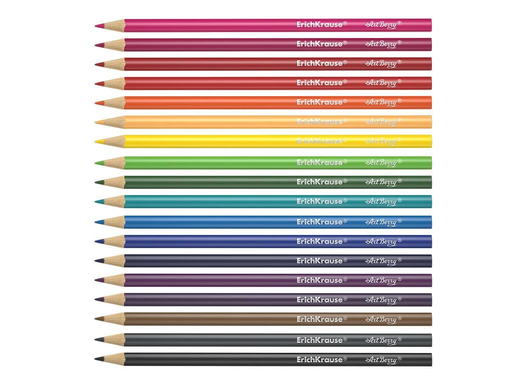 Карандаши цветные ErichKrause Artberry 18 цветов 32881