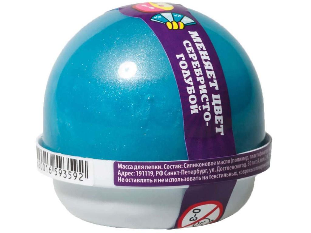 Слайм Nano Gum 25гр Silver-Light Blue NG2SG25