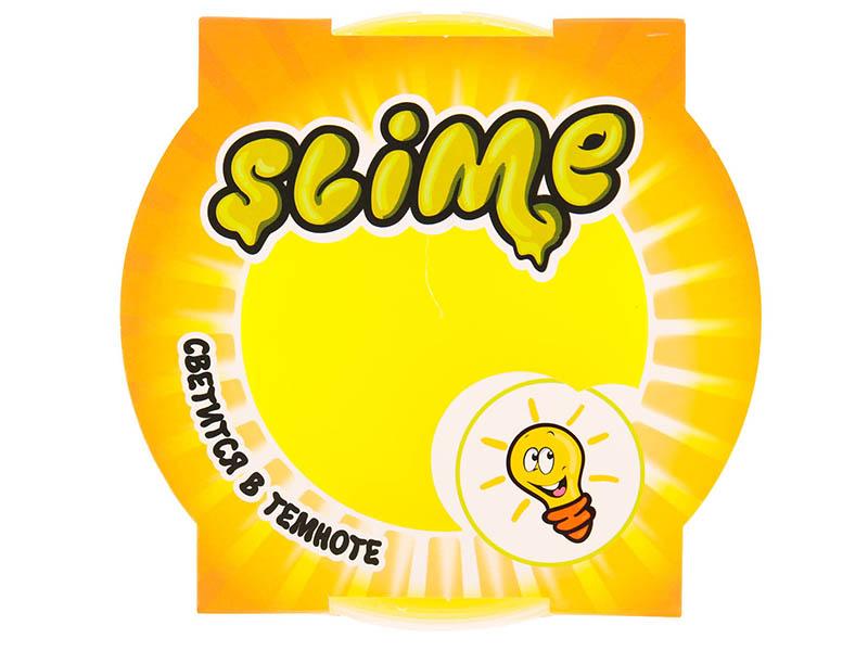 Слайм Slime Mega 300гр светится в темноте Yellow S300-19