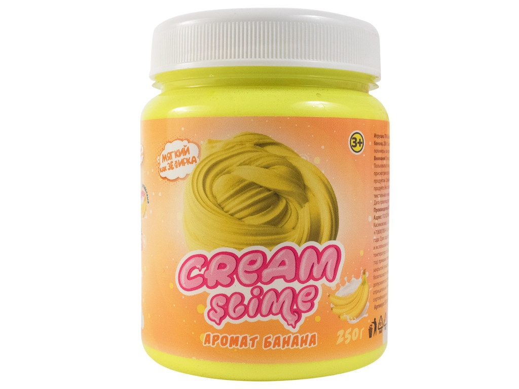 Слайм Slime Cream-Slime 250гр с ароматом банана SF02-B