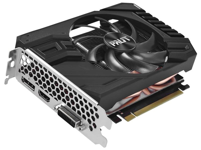 Видеокарта Palit GeForce GTX 1660 SUPER StormX OC 1530Mhz PCI-E 3.0 6144Mb 14000Mhz 192 bit DVI HDMI DP NE6166SS18J9-161F