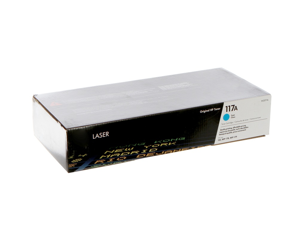 Картридж HP 117A W2071A Cyan для Color Laser 150/150nw/178nw/MFP 179fnw картридж струйный hp c9391ae n 88xl cyan with vivera ink
