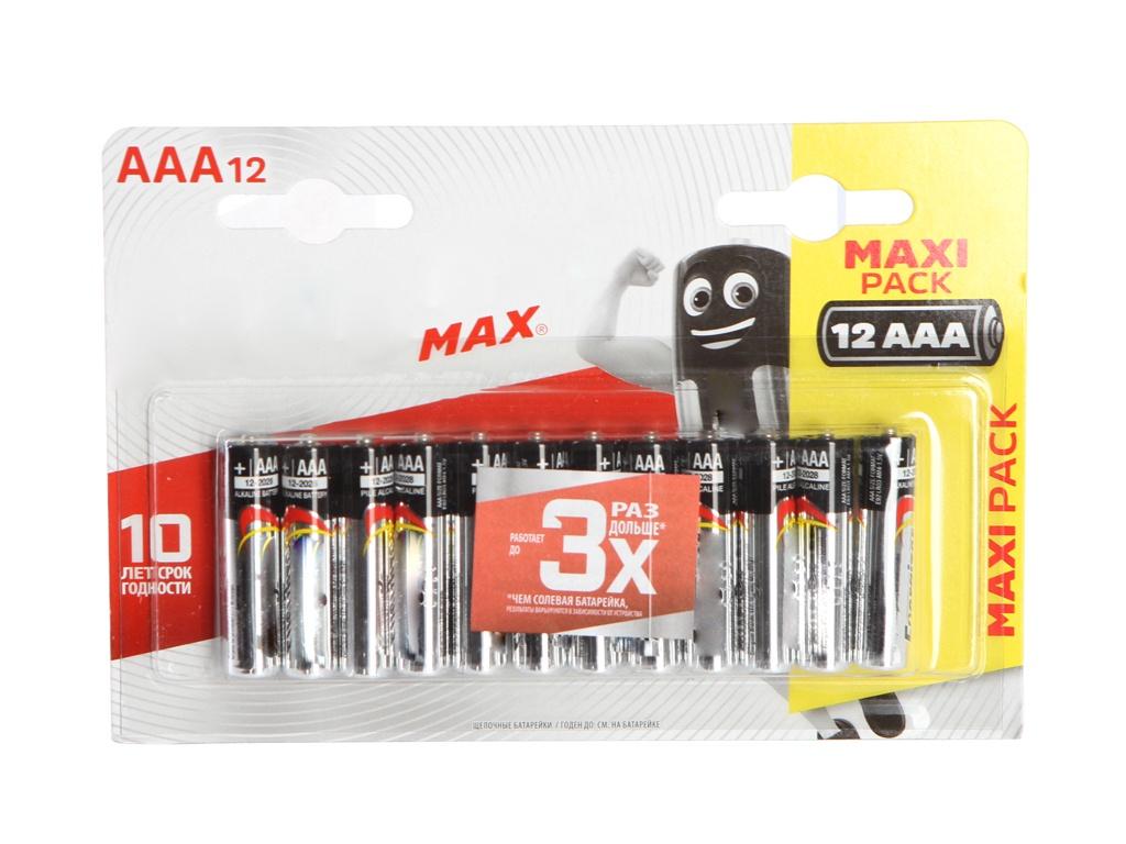 Батарейка AAA - Energizer Max E92 1.5V (12 штук) E301530401 / 26039