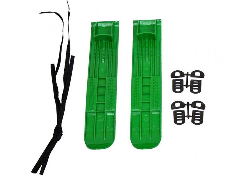 Лыжи Тяни-толкай М2 маленькие с ремнями Green