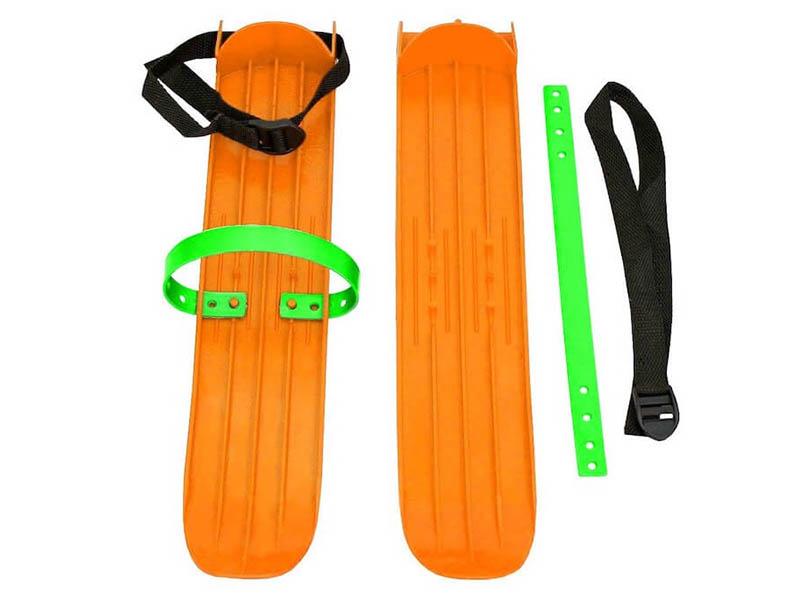 Лыжи Тяни-толкай РТ-2 малые с ремнями Orange