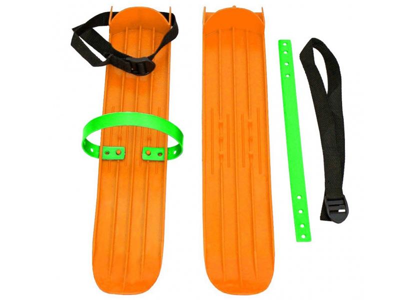 Лыжи Тяни-толкай РТ-2 большие с ремнями Orange