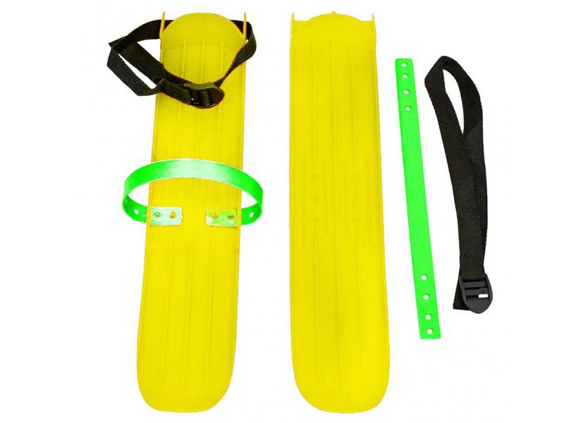 Лыжи Тяни-толкай РТ-2 большие с ремнями Yellow