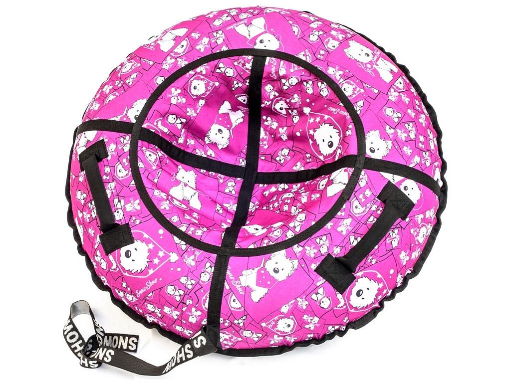 Тюбинг RT Собачки на розовом 118cm + автокамера