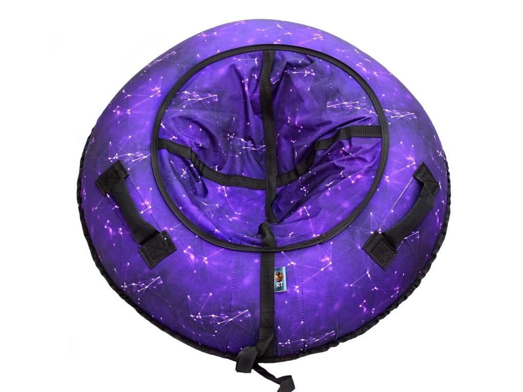 Тюбинг RT Созвездие 118cm Purple + автокамера тюбинг rt галактика автокамера диаметр 100 см