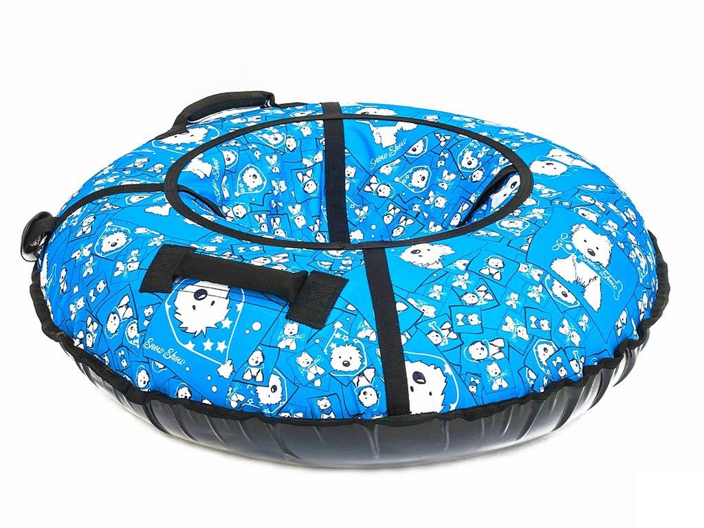 Тюбинг RT Собачки на голубом 105cm + автокамера