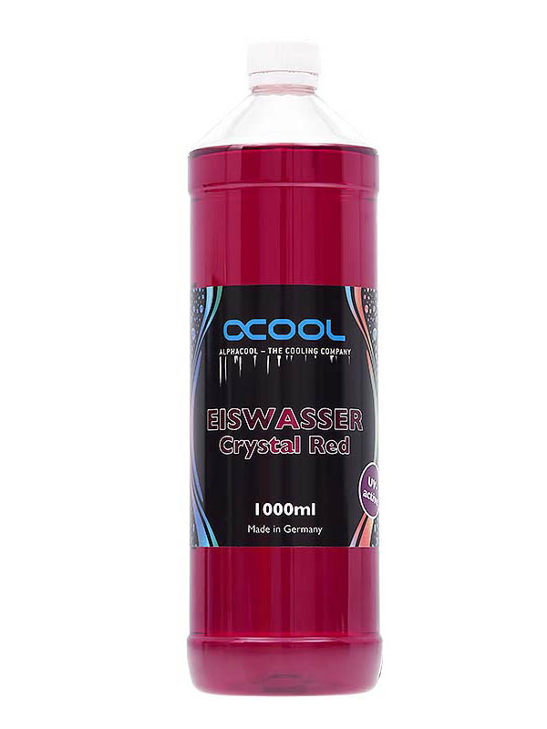 Охлаждающая жидкость Alphacool Eiswasser Crystal Red UV-active 1000ml 18544/1012561
