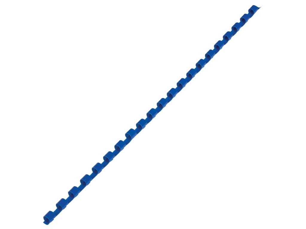 Фото - Пружины для переплета Brauberg 100шт 6mm Blue 530905 переплетная машина для пластиковой пружины brauberg b8 пробивает 8 л сшивает до 125 л 530958