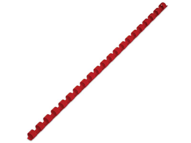 Фото - Пружины для переплета Brauberg 100шт 8mm Red 530908 переплетная машина для пластиковой пружины brauberg b8 пробивает 8 л сшивает до 125 л 530958