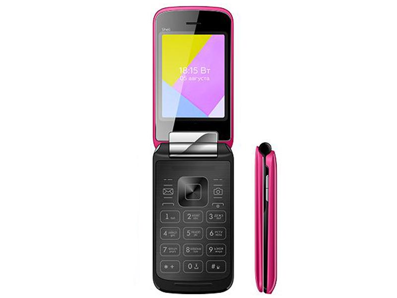 Сотовый телефон BQ 2816 Shell Mirror Pink