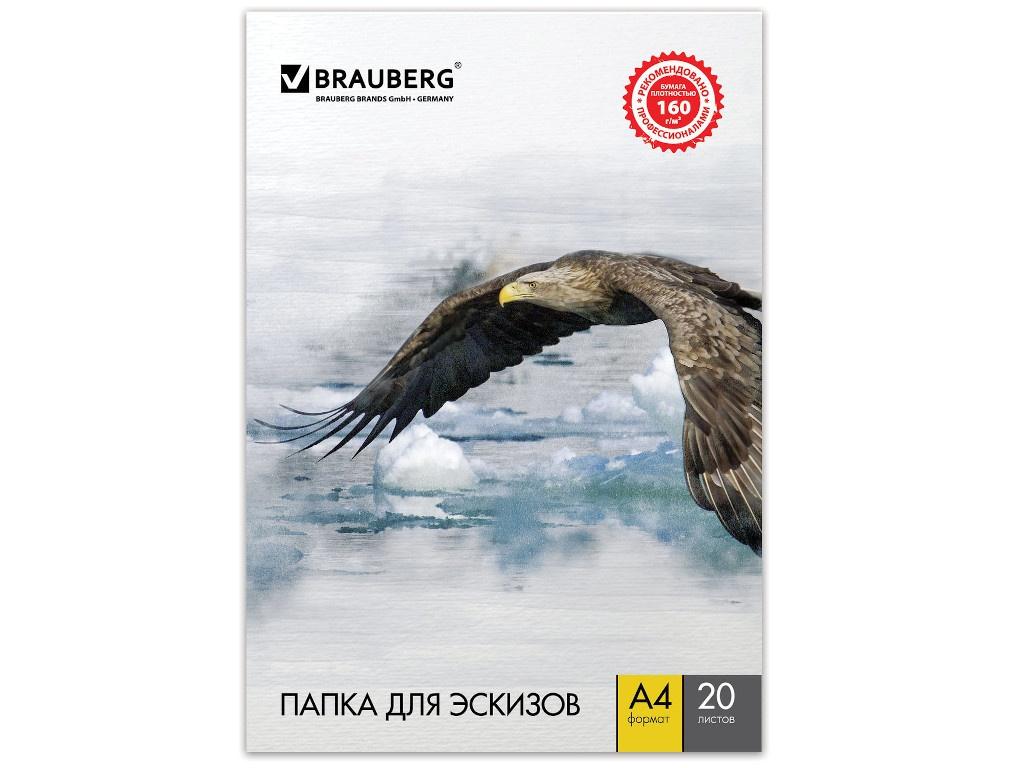 Папка для акварели Brauberg Орел А4 20 листов 125230