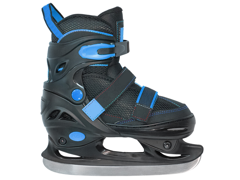 Коньки Tech Team Cubo Boy 2020 р.35-38 Black-Blue