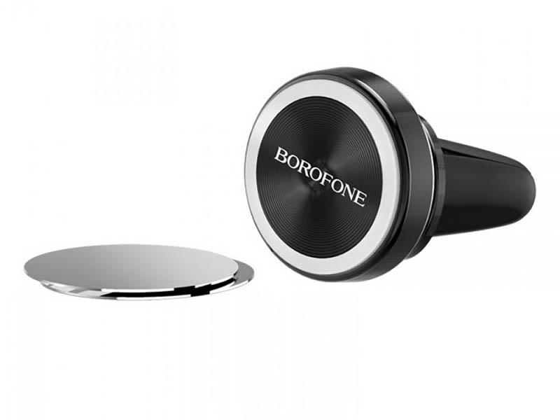 Держатель Borofone BH6 Platinum Metal Magnetic Black