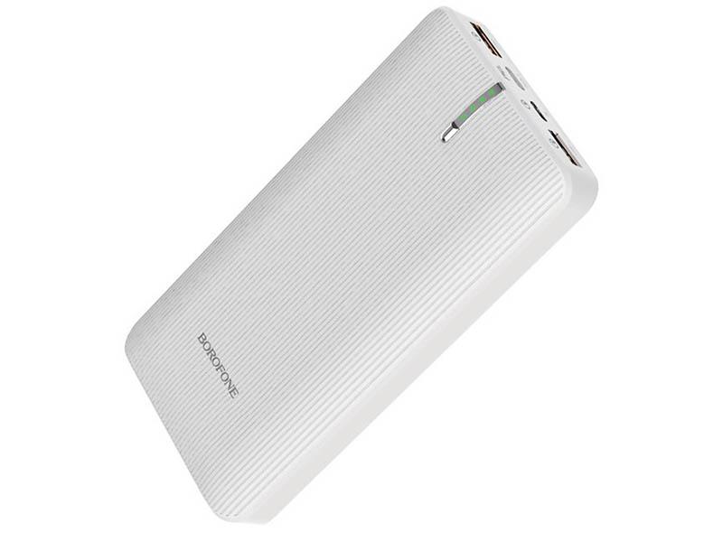 Внешний аккумулятор Borofone BT18B Prosperous mobile power bank 25000 mAh White