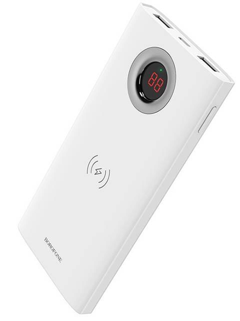 Внешний аккумулятор Borofone BT16 AirPower wireless charging power bank 10000 mAh White