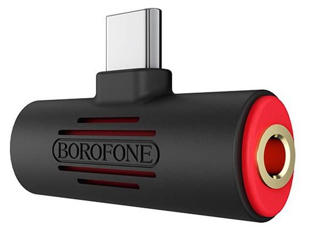 Аксессуар Borofone BV8 Type-C 2-in-1 Audio Converter Black