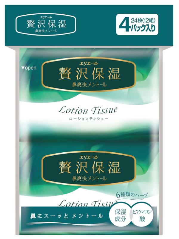 Салфетки Elleair Lotion Tissue Herbs 4x12шт 713445