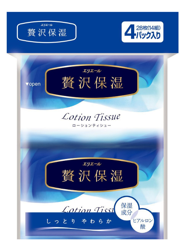 Салфетки Elleair Lotion Tissue 4x14шт 713442