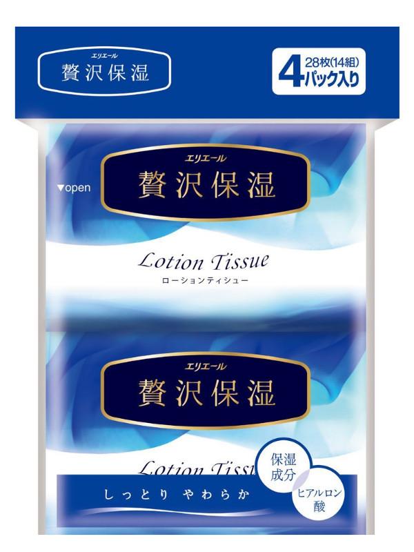 Салфетки Elleair Lotion Tissue 4x14шт 713442